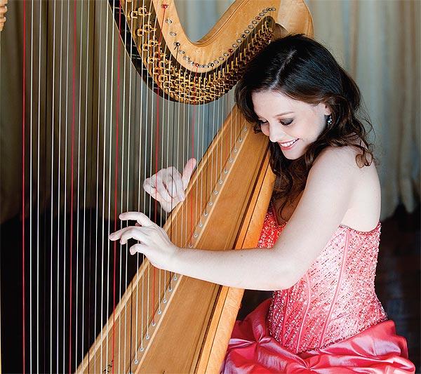 TSO harpist Heidi Van Hoesen Gorton