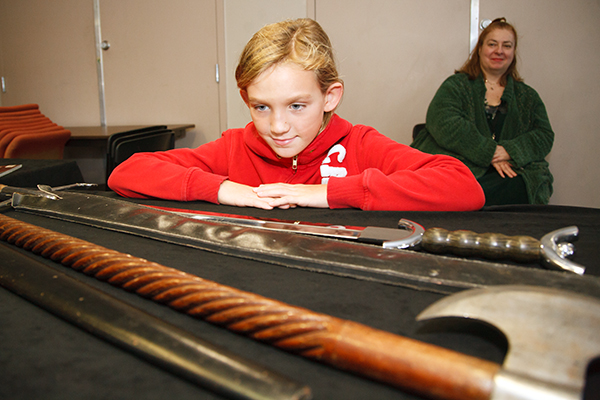 Eying medieval weapons