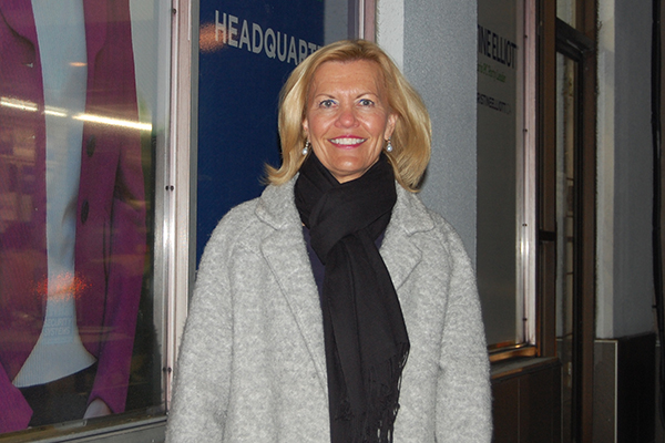 Christine Elliott outside her midtown headquarters