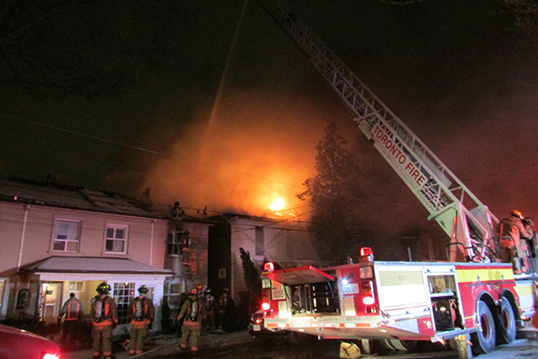 Firefighters battle blaze on Edith Drive