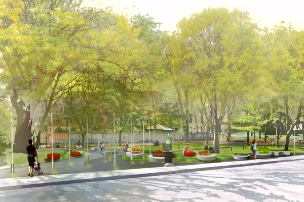 Rendering of finished north gateway project