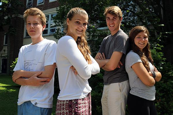 Lawrence Park CI's Matt Gibbard-McCall, left, Meg Killeen, Lachlan Carmichael and Sarah Harling.