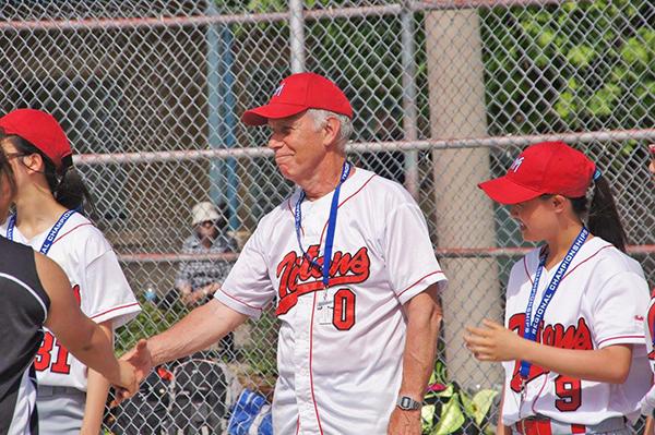David Stickney coaching baseball