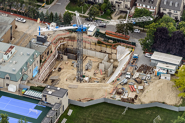 EXPANSION UNDERWAY: Bishop Strachan School has been expanding onto their Forest Hill institution, and a recent $1 million donation from the E & G Odette Foundation helps ensure a Spring 2017 opening.