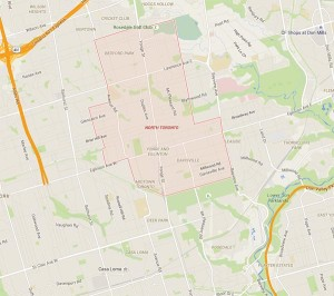 BUT THEN THERE'S NORTH TORONTO, which Google designates as an area that overlaps much of 'Midtown.'
