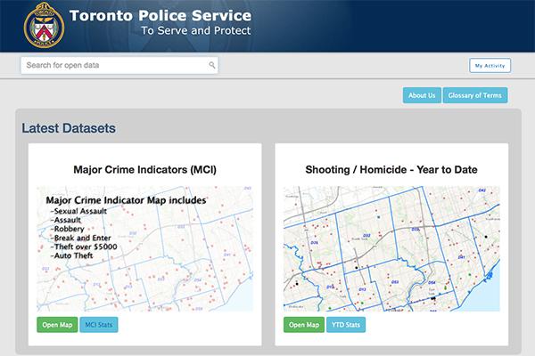 Toronto Police web page