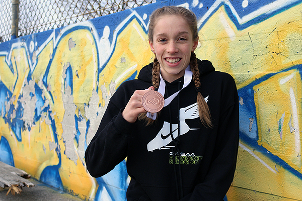 DOUBLE THREAT: Lawrence Park CI's Sydney Winokur won bronze in midget girls' 3080 metre cross country, and looks to return to OFSAA this winter as part of the Panthers' swim team.