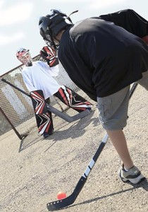 OUTDOOR SPORTS: A city bylaw prohibits using hockey or basketball nets on roads, which a local councillor is trying to change.