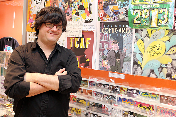 READ BETWEEN THE PANELS: Miles Baker, manager of Page and Panel, has enjoyed having his comic books shop inside the Toronto Reference Library since March, 2015. The shop mandate is to represent the breadth and diversity of the graphic novel industry.