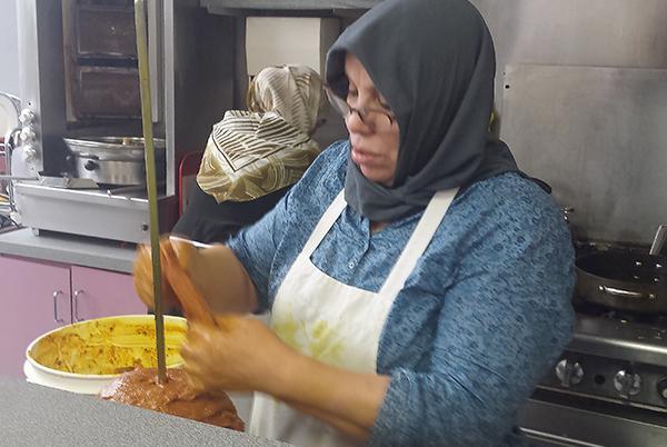 Jamilia Rifi at work in King Falafel