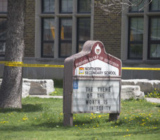 DIVERTED: Students were sent to neighbouring North Toronto CI this morning.