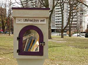 SPACE TO READ IN: Apartment buildings in Davisville area have plenty of green space around them.
