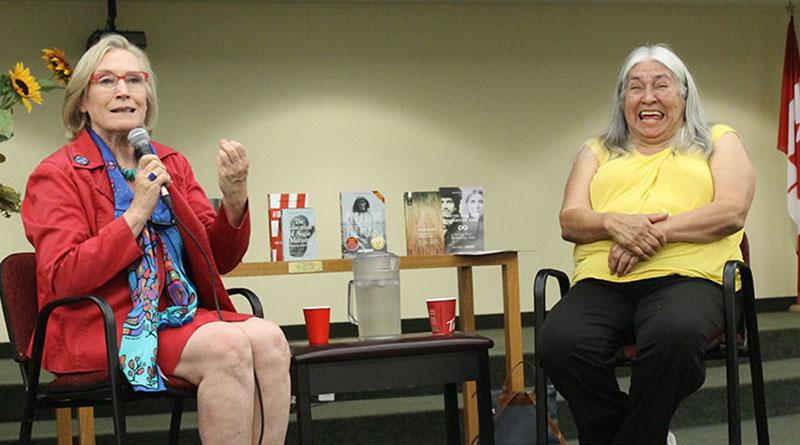 Carol;yn Bennett with Lee Maracle