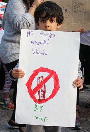 Protest at John Fisher Public School
