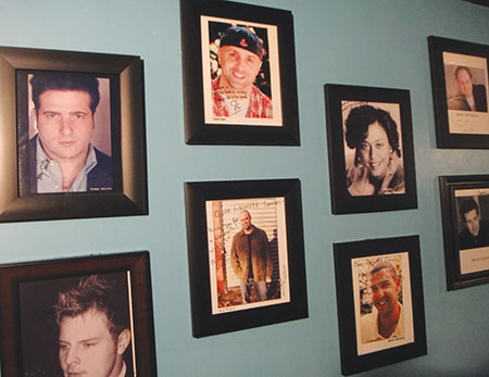 The comedians wall at Absolute Comedy