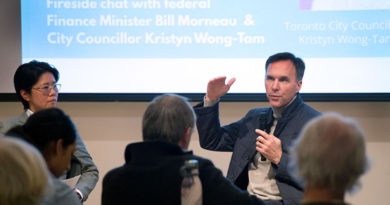 finance minister speaks at town hall
