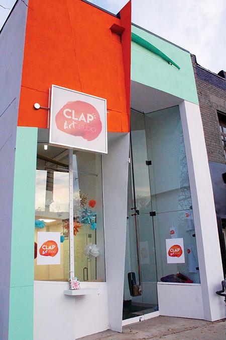 Front of CLAP Art Studio