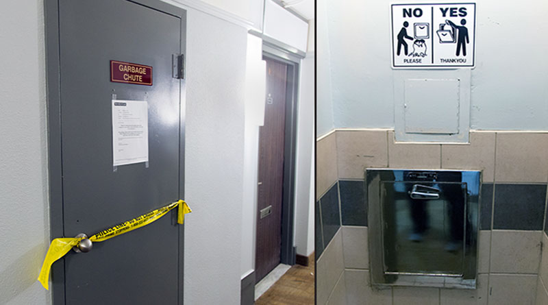 Garbage Chute Room : Man dead after fall down garbage chute streeter
