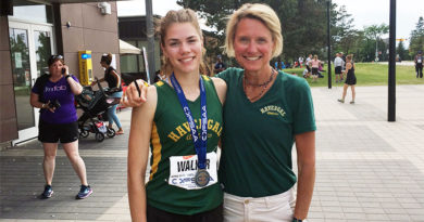 Haley Walker with coach