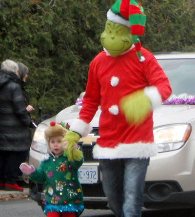 Grinch at Beaches Santa Claus Parade