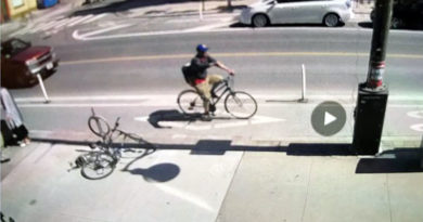 cyclist video after corrosive substance thrown
