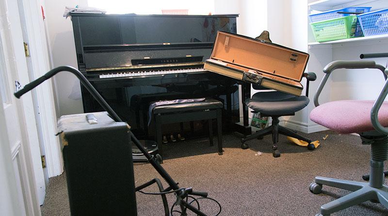 Instruments taken at arts centre