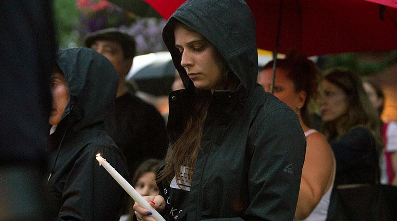 Vigil for Danforth shooting victims