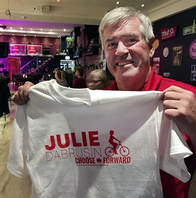 Arthur Potts at Julie Dabrusin party