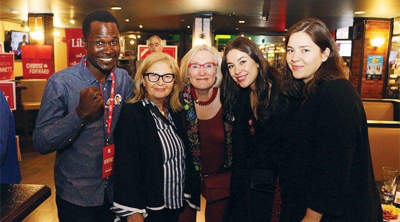 Carolyn Bennett with supporters