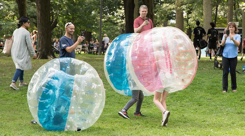 Bubble soccer at festival
