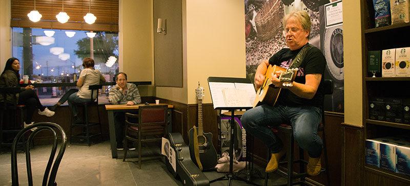 Brian Hotton at Starbucks