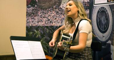 Starbucks performer Alice Hail