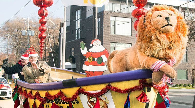 The Lions Club at the Upper Beaches parade.