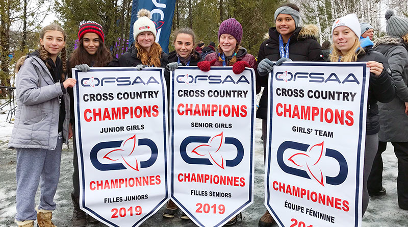 Leaside's three winning cross country teams
