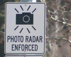 Photo radar sign