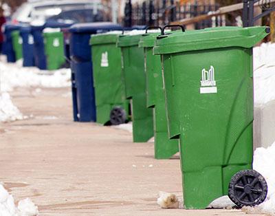 bins for garbage pickup