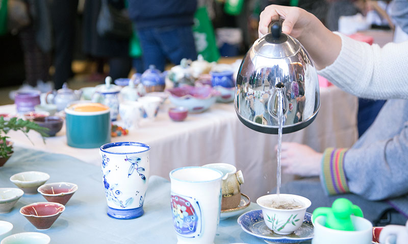 Tea being poured at Tea Festival
