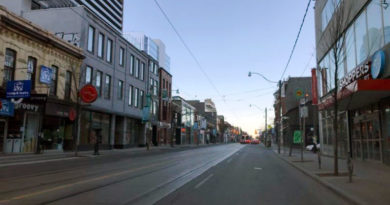 Queen Street East near gas leak