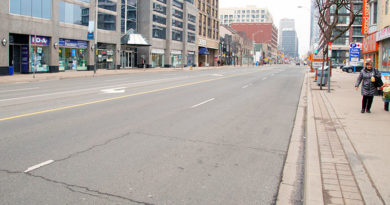 Yonge Street already deserted before weather warning