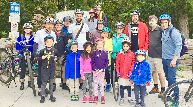 Family day for bike lanes group