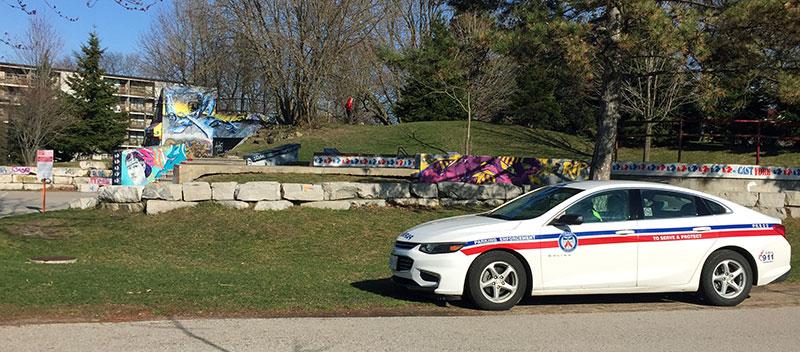 Patrol car in parks