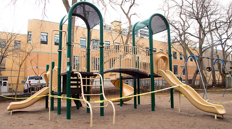 playgrounds in parks off limits