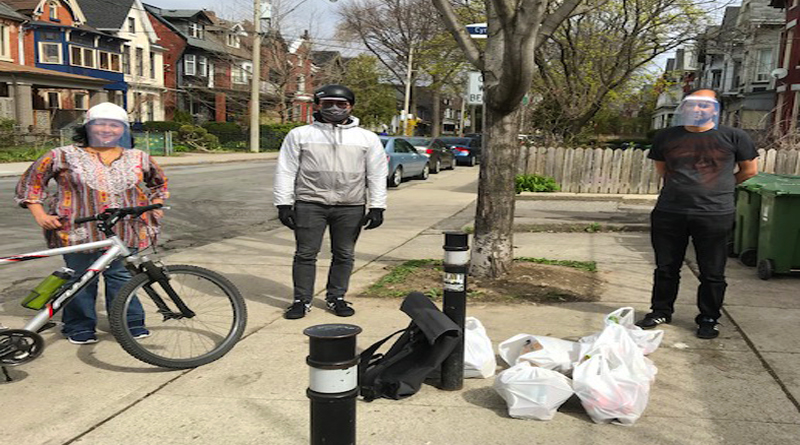 This image shows one of the volunteers of Bike Brigade