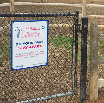 Sign at off=leash area