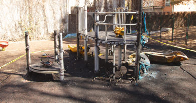 Playground demolished by fire