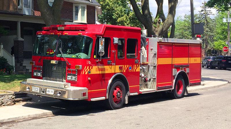 Fire truck at Rainsford fire site