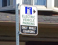 EV charging station sign on Alton