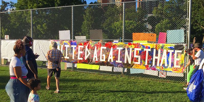 Banner in Dentonia Park
