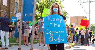 Protest against homeless shelter