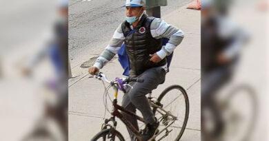 Man on bike sought in syringes investigation